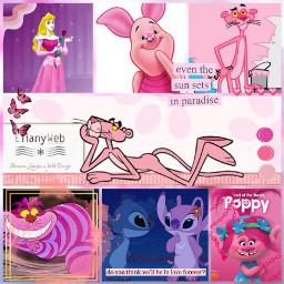 freetoedit pink rosa panterarosa collage stich