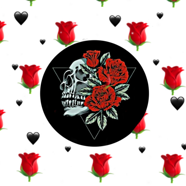 #freetoedit Nice backround aka wallpaper for tour phone#wallpaper#art #skull#roses#blackhearts