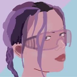 freetoedit art portrait drawing billieeilish