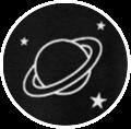saturn freetoedit planet sticker aufkleber schwarz schwarzwei