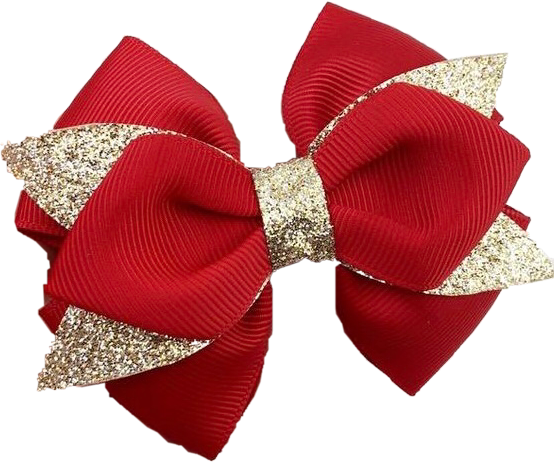#bow #ribbon #red #gold #sparkle #freetoedit