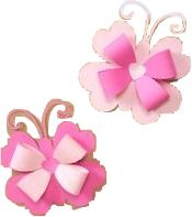 #diy #crafts #pink #paper #butterflies #bows #cute #freetoedit