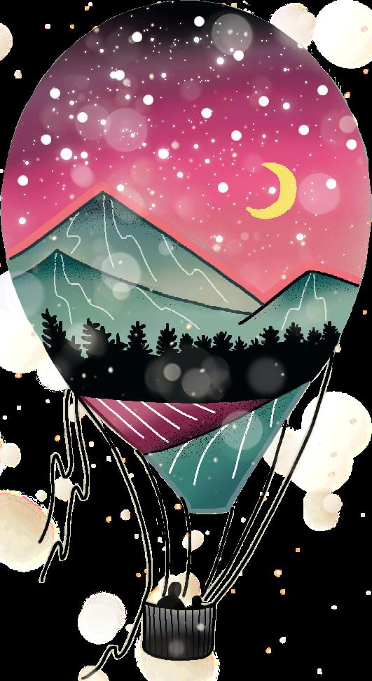 #hotairballoon #nightsky