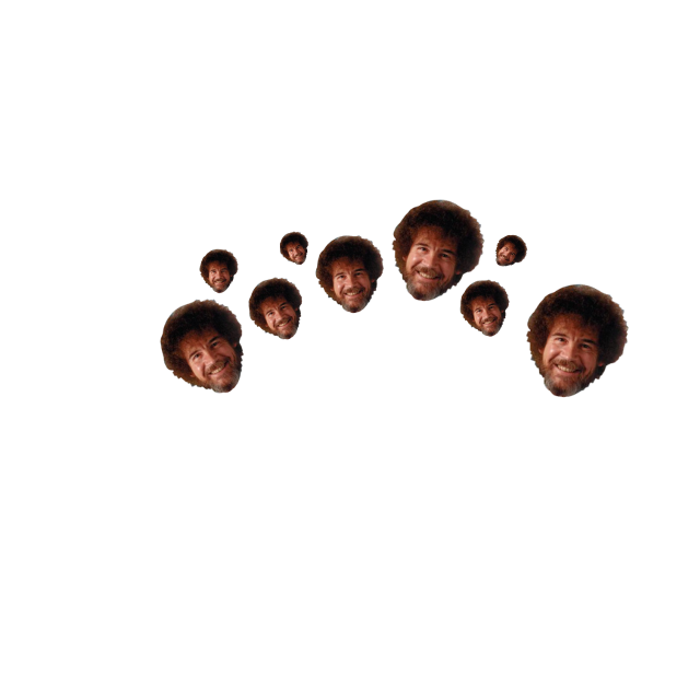 i will be using this... all the time #bobross #bob #painter #meme #bobrosscrown #funny #paintercrown #painting #crown #freetoedit