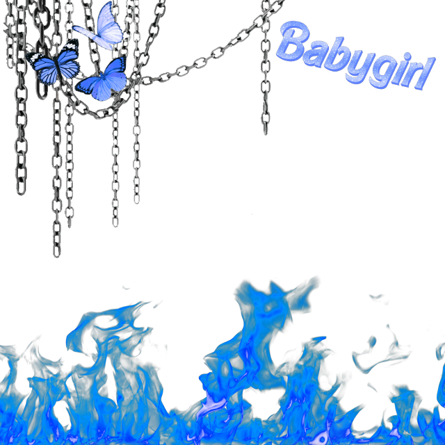 #freetoedit #blue #messy #aesthetic #chain #chains #butterfly #fire #butterfly #butterflies