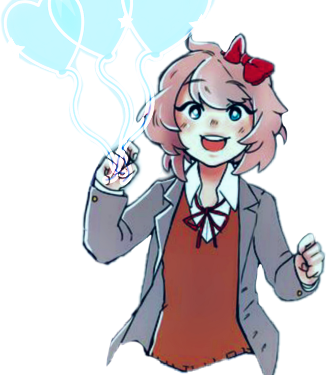 "I think ""Bubbley"" matches Sayori's personality tbh. I wanted to do a challenge. :D #Sayori #Challenge #DDLC"