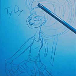 holiztridodi hollipolliyozza originalcharacter sketch blue