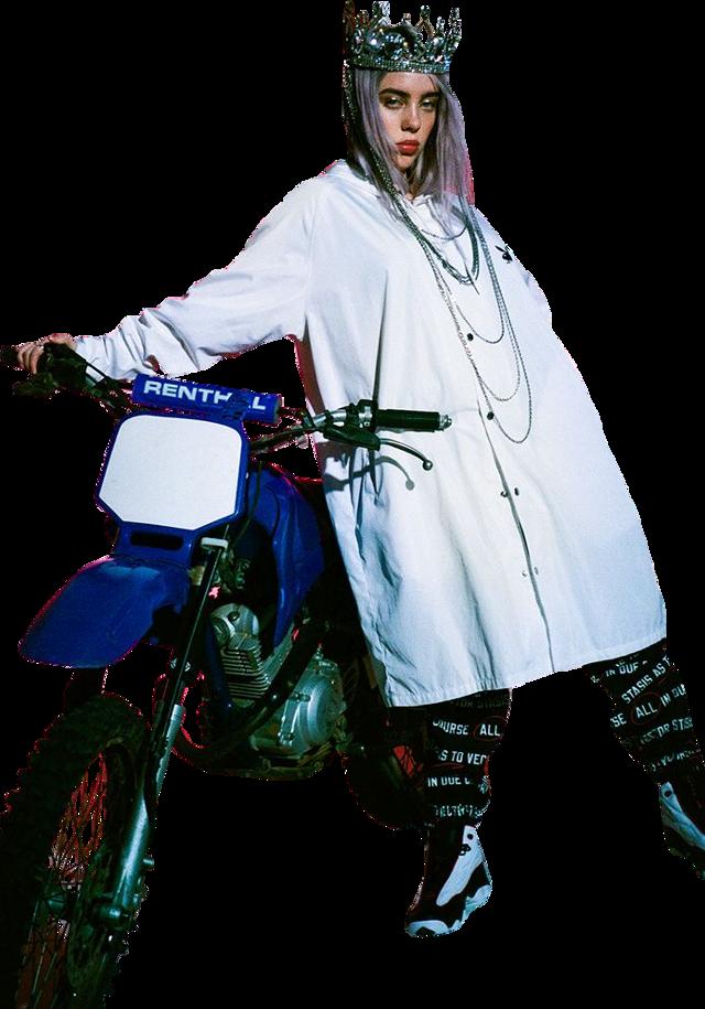 #billie #billieeilish #eilish #white #motor #motorcycle #sticker #freetoedit
