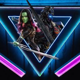 freetoedit gamora optimusprime marvel transformers