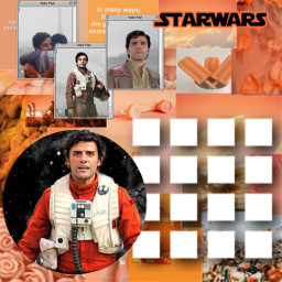 poe starwars poedameron resistance orange freetoedit