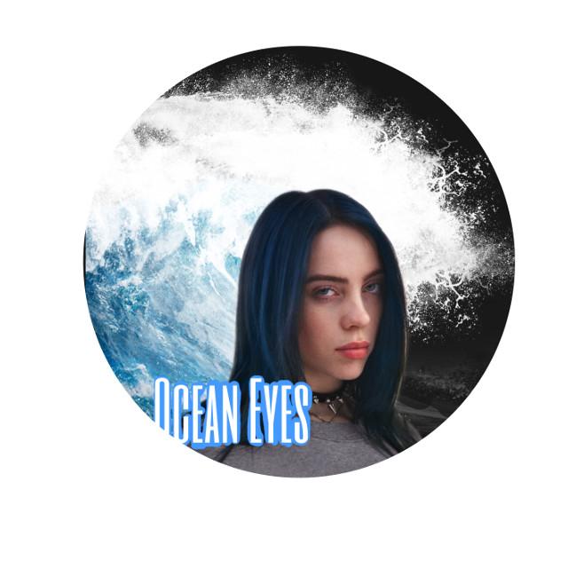#freetoedit #oceaneyes #billieeilish #blue #bluehair #circle