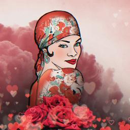 love hearts woman valentines emotions freetoedit
