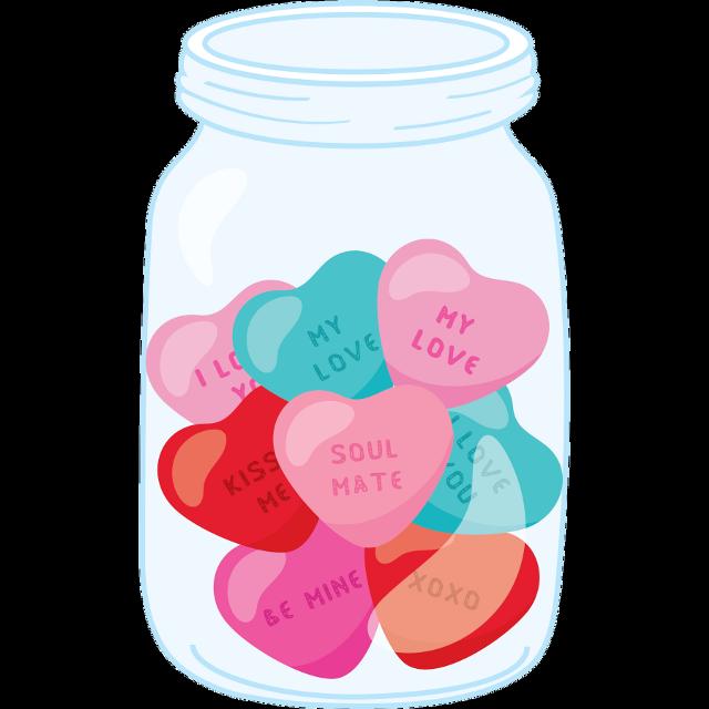 #glassjar #masonjar #jarofhearts #valentinesday #hearts #love #freetoedit
