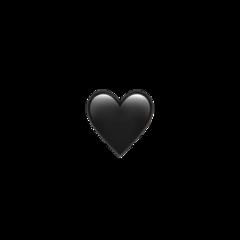 black heart iphone emoji emojis freetoedit