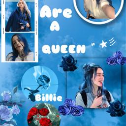 freetoedit queenbillie billieeilish billieaesthetic blueaesthetic