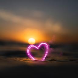 happyvalentinesday love ocean neon heart loveisallyouneed freetoedit