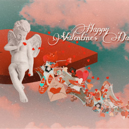 freetoedit valentinesday card cupid love