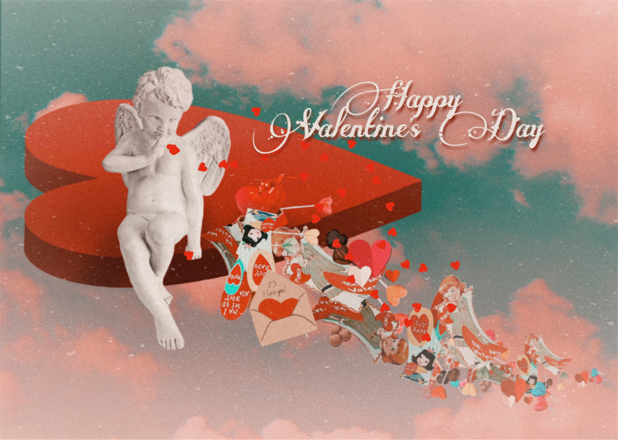 Sharing Happy Saint Valentine's Day wishes 🤎 #valentinesday #card #cupid #love #emotions #madewithpicsart #freetoedit