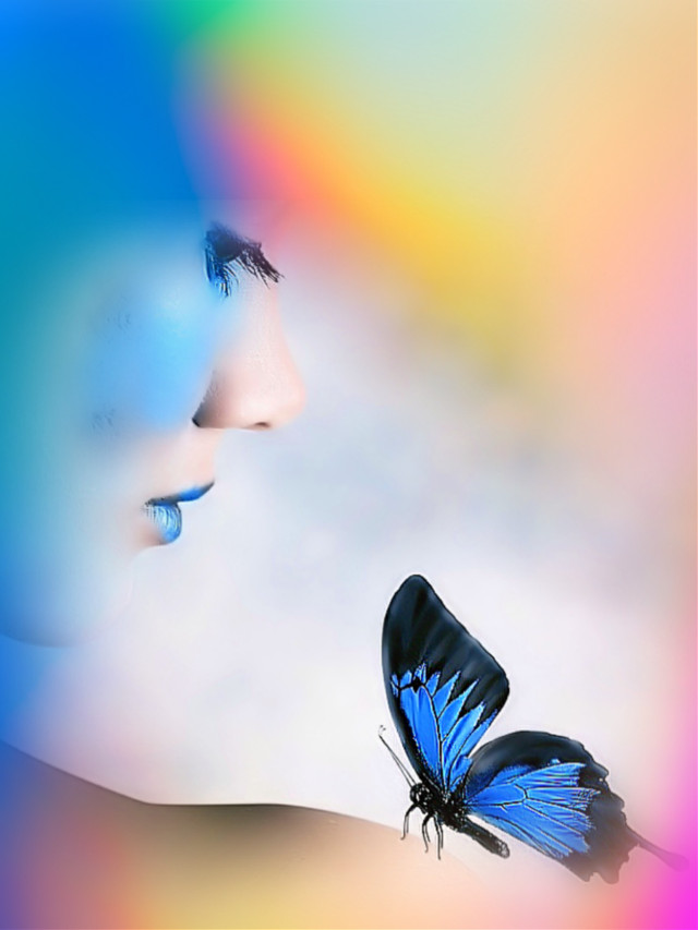 #freetoedit #woman #portrait #butterfly #abstract #aesthetic #colorful #picsarteffects #tiltshift #artisticedit #becreative #myedit #madewithpicsart