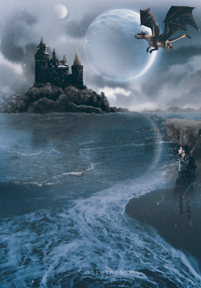 #freetoedit #castle #dragon #surreal @irethf5