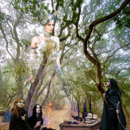 freetoedit witch witches witchcraft wicca scene scenery