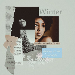 freetoedit winter winteraesthetic paper collage