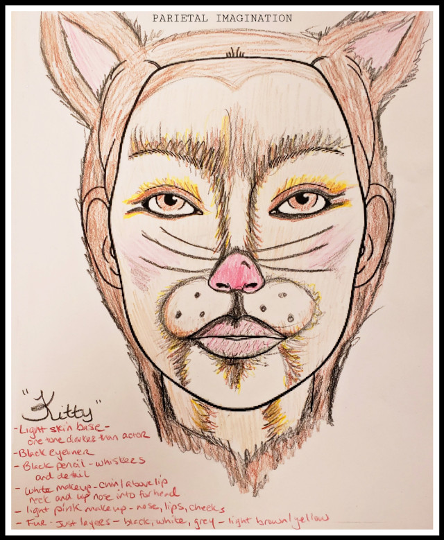 Character Make-up Sketch: Cat By: Parietal Imagination Art  @pa  #cat #hanselandgretel #sketch #freetoedit #fx #vip #madewithpicsart #parietalimagination