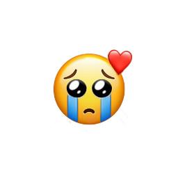 sad emoji crying heart freetoedit