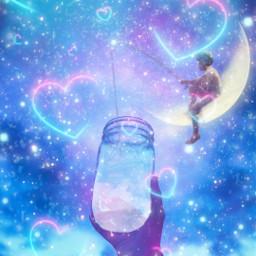jar moon glitter clouds fishing freetoedit ircemptyjar emptyjar
