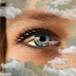 freetoedit eye cloud sky