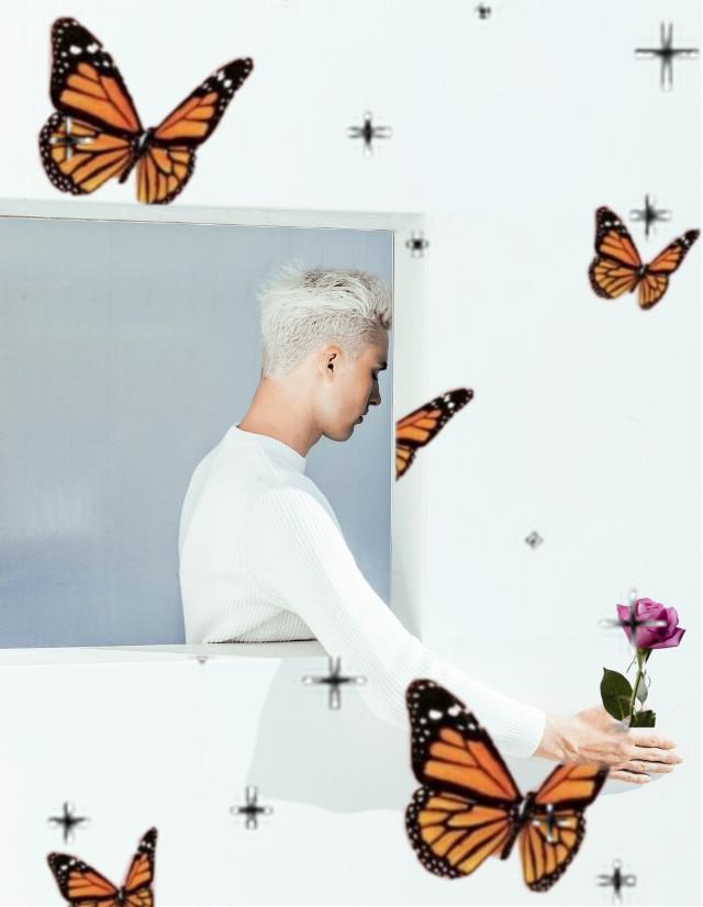#freetoedit #rose #anjalimittal #boy #butterly #renaissancestickers #orangebutterfly #makeawesome #papicks