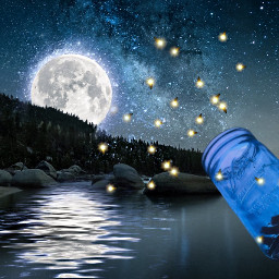 freetoedit jar moon fireflies pretty ircemptyjar emptyjar