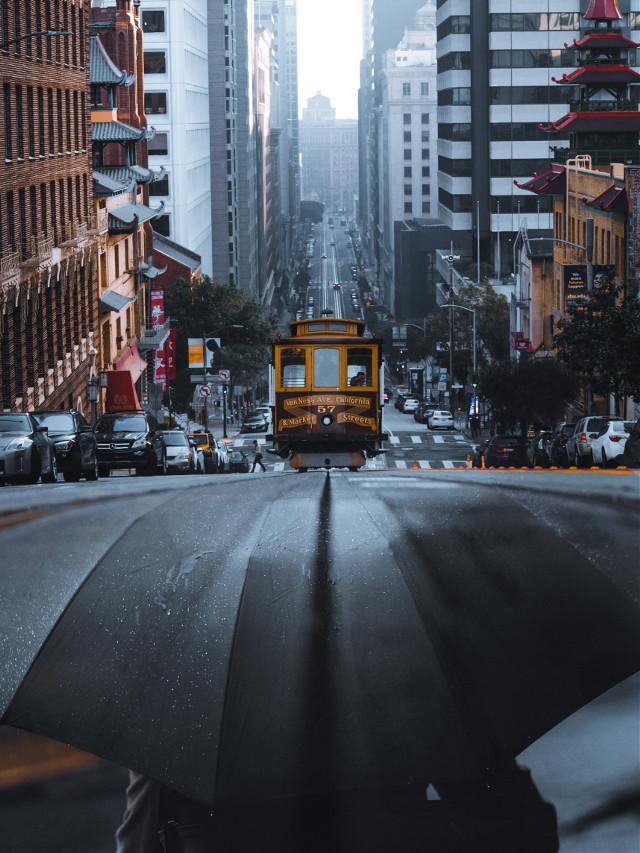 #freetoedit Street umbrella #street #umbrella #city @picsart
