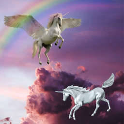 unicornio🦄 arcoiris🌈 nuves freetoedit unicornio irccottoncandyskies cottoncandyskies
