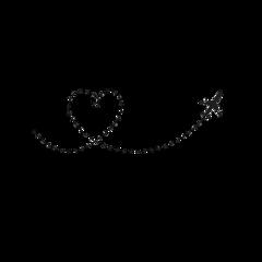 dottedline airplane silhouette freetoedit