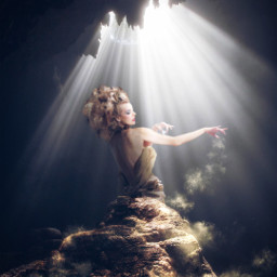 freetoedit fantasy cave lightbeams magical