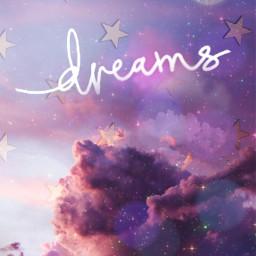 dream stars clouds glitter challenge freetoedit irccottoncandyskies cottoncandyskies