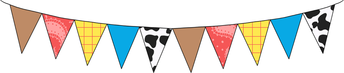 banners party flags toystory cowprint freetoedit
