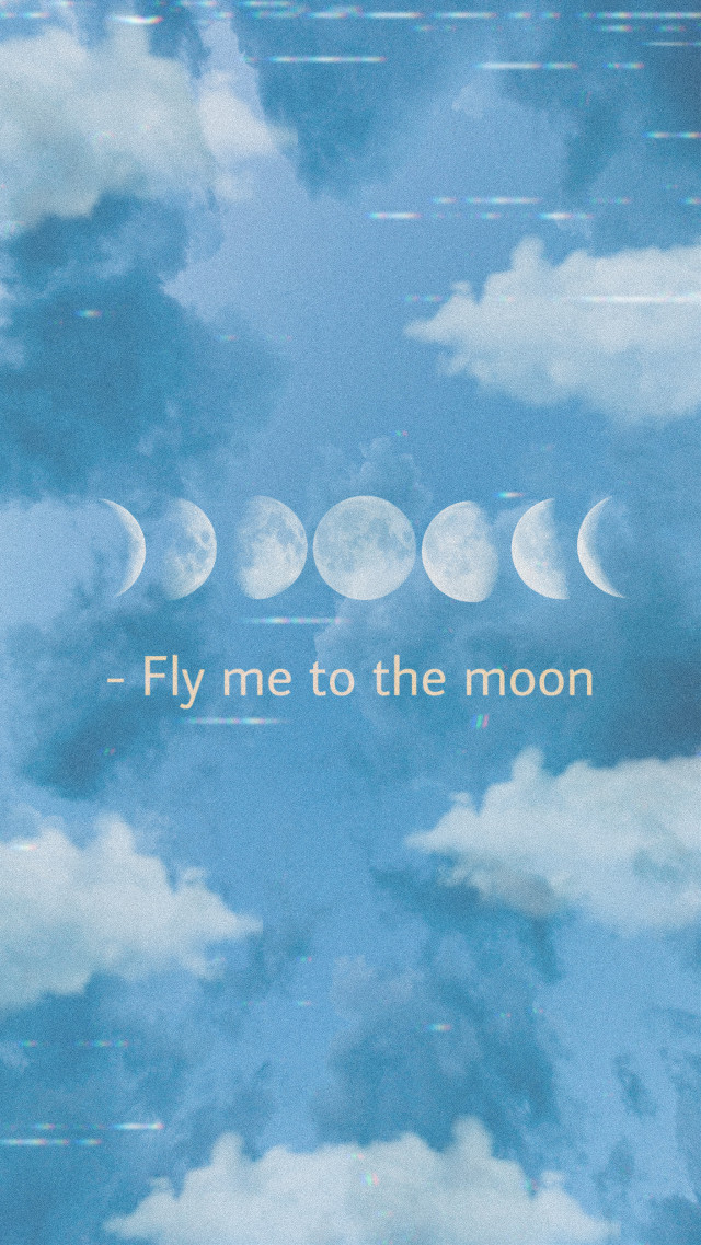 #freetoedit You can use this as a lockscreen #moon #vhs #aesthetic #lockscreen #wallpaper #clouds #blue