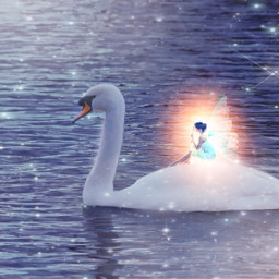 freetoedit stickers fairy magical swan