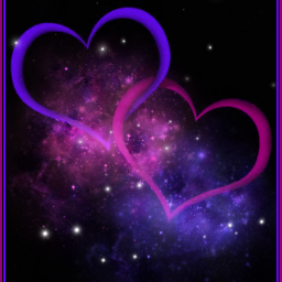love hearts brightcolors space pink freetoedit