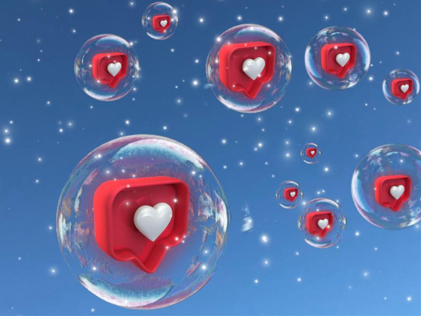 #heartbubble  #freetoedit