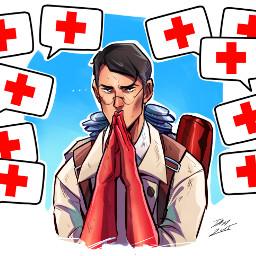 tf2 teamfortress2 medic medicred medicredtf2