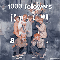 freetoedit bts 1000followers 1k thankyousomuch