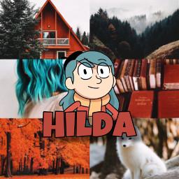 hilda cartoon netflix background autumn freetoedit