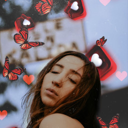 freetoedit love hearts butterfly red srclikebubble
