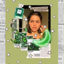 freetoedit green aesthetic moodboard