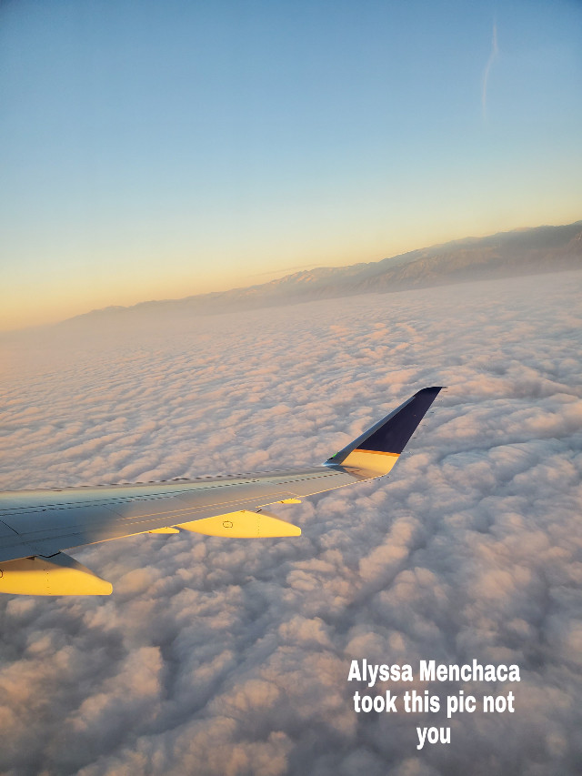 Sry Im posting so late I haven't had a signal  #madebylowkeyathestic #plane #clouds #sunrise