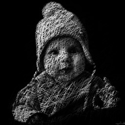 freetoedit child baby drawing blackandwhite scribble scribblesart