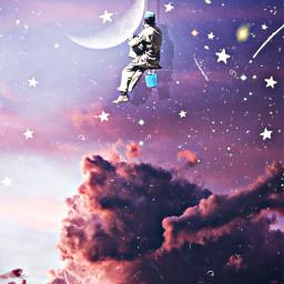 freetoedit sky clouds painter moon irccottoncandyskies cottoncandyskies